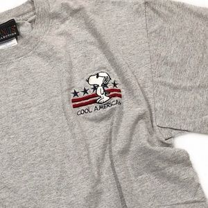 [Peanuts Collection] Cool American Snoopie Tee